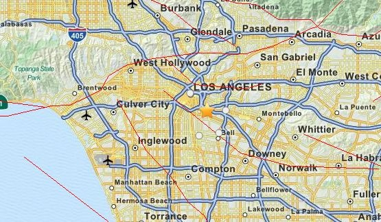 The Los Angeles Times looks at the dangers of concrete buildings in the event of an earthquake. Seen here is the epicenter of an earthquake from March 20.