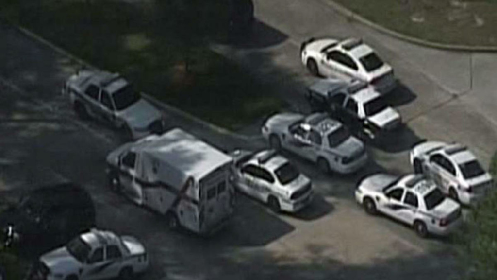 The scene at Houston's Lone Star College Tuesday, Jan. 22, 2013 where there was reportedly a shooting on campus.