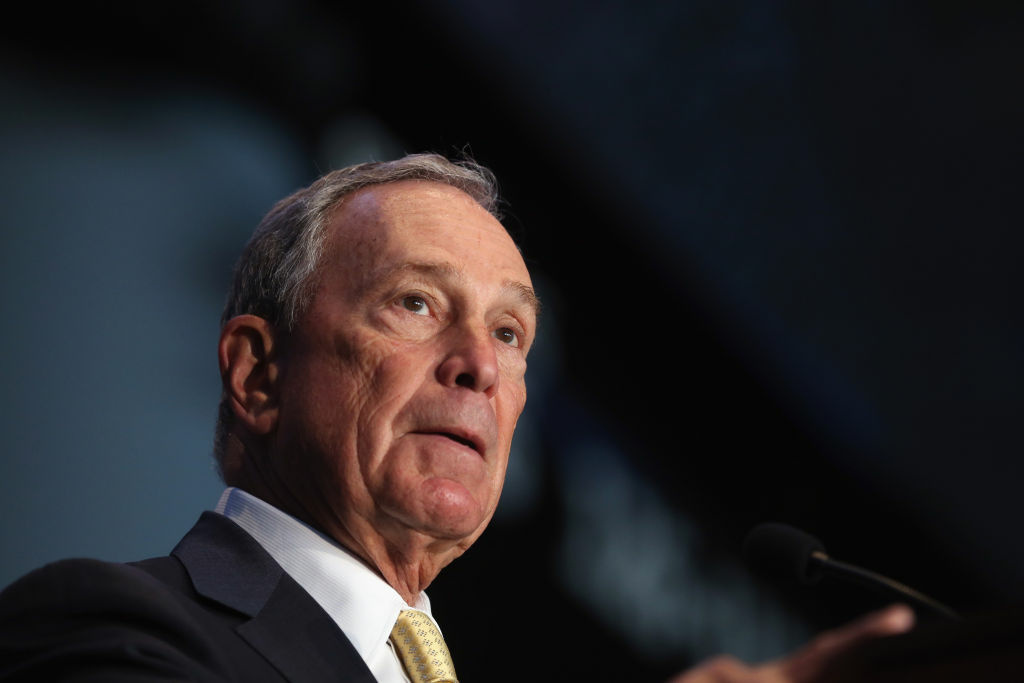 New York City Mayor Michael Bloomberg speaks at a press conference on October 24, 2012, in the Brooklyn borough of New York City.