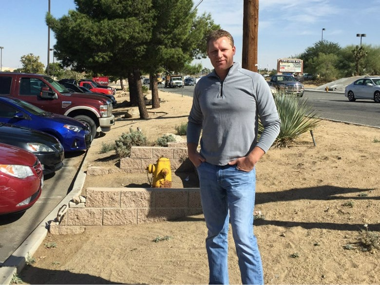 Former Assembly Republican Leader Chad Mayes in his San Bernardino County hometown of Yucca Valley.