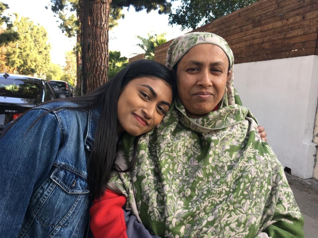 Senior Sheila Milon (left) and her mother Momotaz Pervin.