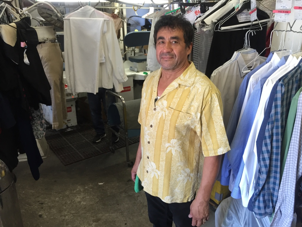 German Orellana, owner of Lincoln Cleaners in Venice.