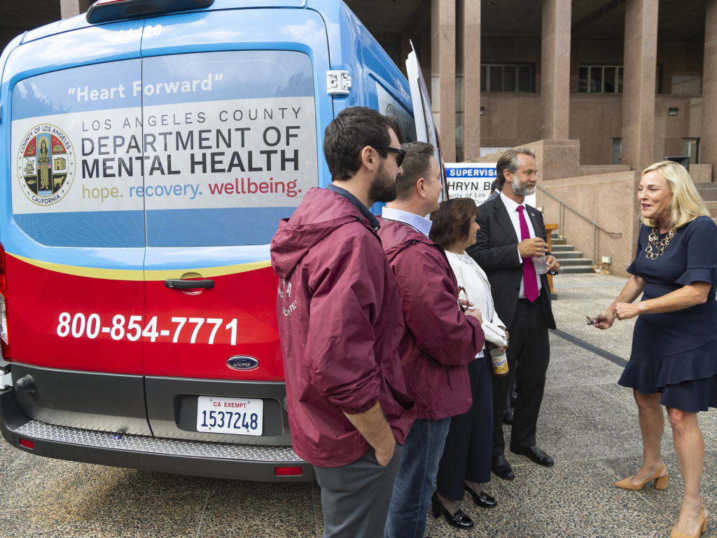 Los Angeles County last fall unveiled one of its 10 Department of Mental Health vans aimed at, among other things, reducing long waiting periods for the transport of individuals experiencing a serious mental health crisis. The California legislature made its own bid this week to expand access to mental health care statewide.