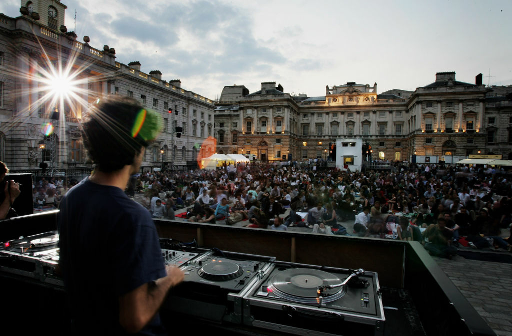 A general view is seen as FilmFour and Somerset House present their first annual movie season of outdoor screenings in London, England.