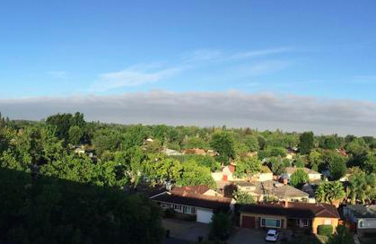 Smoke from the fire seen in Sacramento.