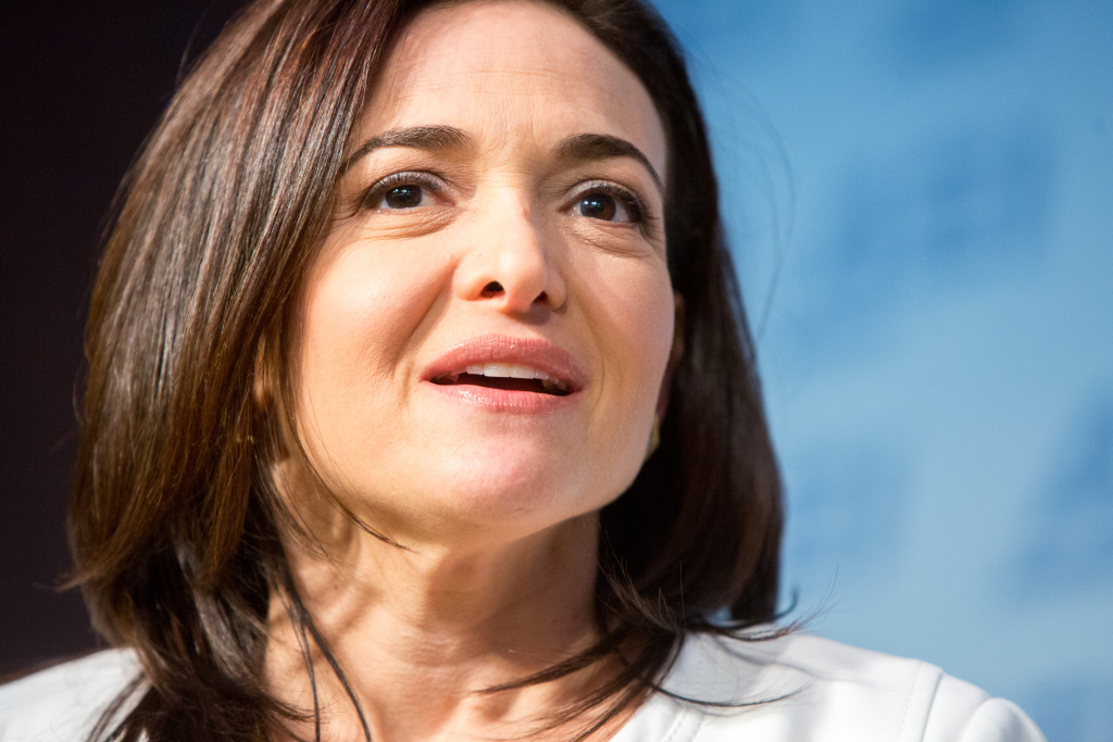 Facebook's Chief Operating Officer Sheryl Sandberg speaks during a public conversation on Facebook's work at The American Enterprise Institute for Public Policy Research on June 22, 2016 in Washington, DC.