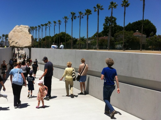 LACMA unveils 'Levitated Mass' exhibit on Sunday, June 24, 2012.