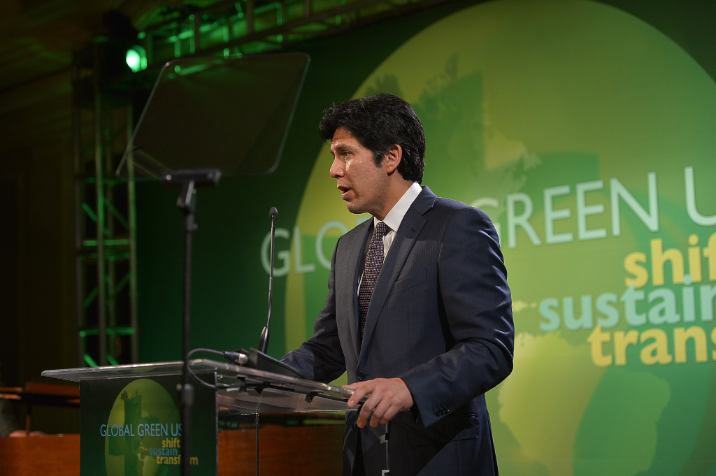 File State Sen. Kevin de Leon speaks at Global Green USA's Annual Millennium Awards at Fairmont Miramar Hotel on June 8, 2013 in Santa Monica.