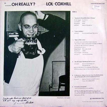 Lol Coxhill album cover