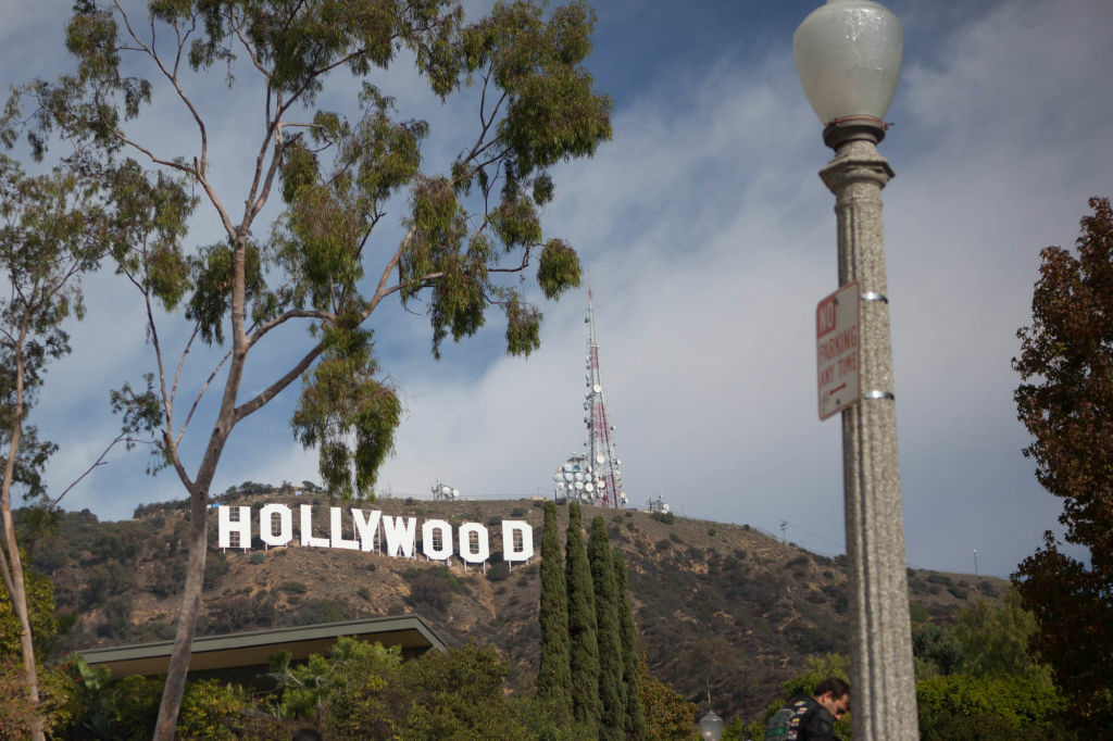 File: The Hollywood sign is shown on Dec. 4, 2012, after a fresh paint job.