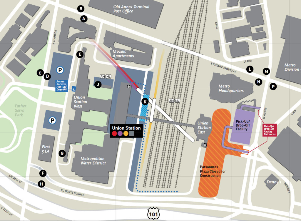Map: Union Station bus plaza closed for the next 3 months | 89.3 KPCC
