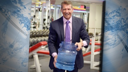WWE CEO and Chairman Vince McMahon accepts Triple H's ALS Ice Bucket Challenge.