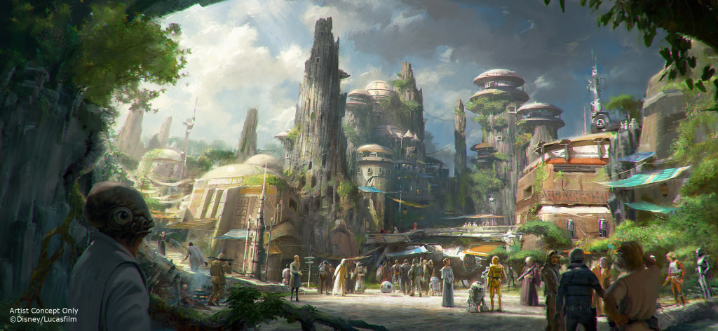 Concept art of Star Wars Land.