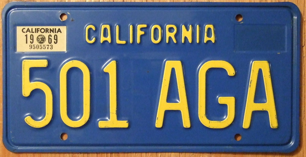 Old School California License Plates - Best Plate 2018