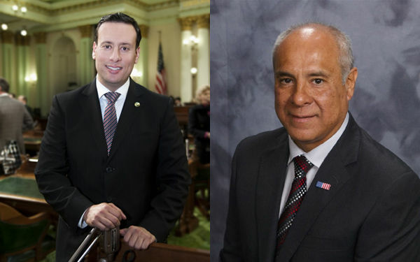 Assemblyman Roger Hernandez, left, is running for reelection against Joe Gardner, right, a retired member of the Santa Monica Police Department.