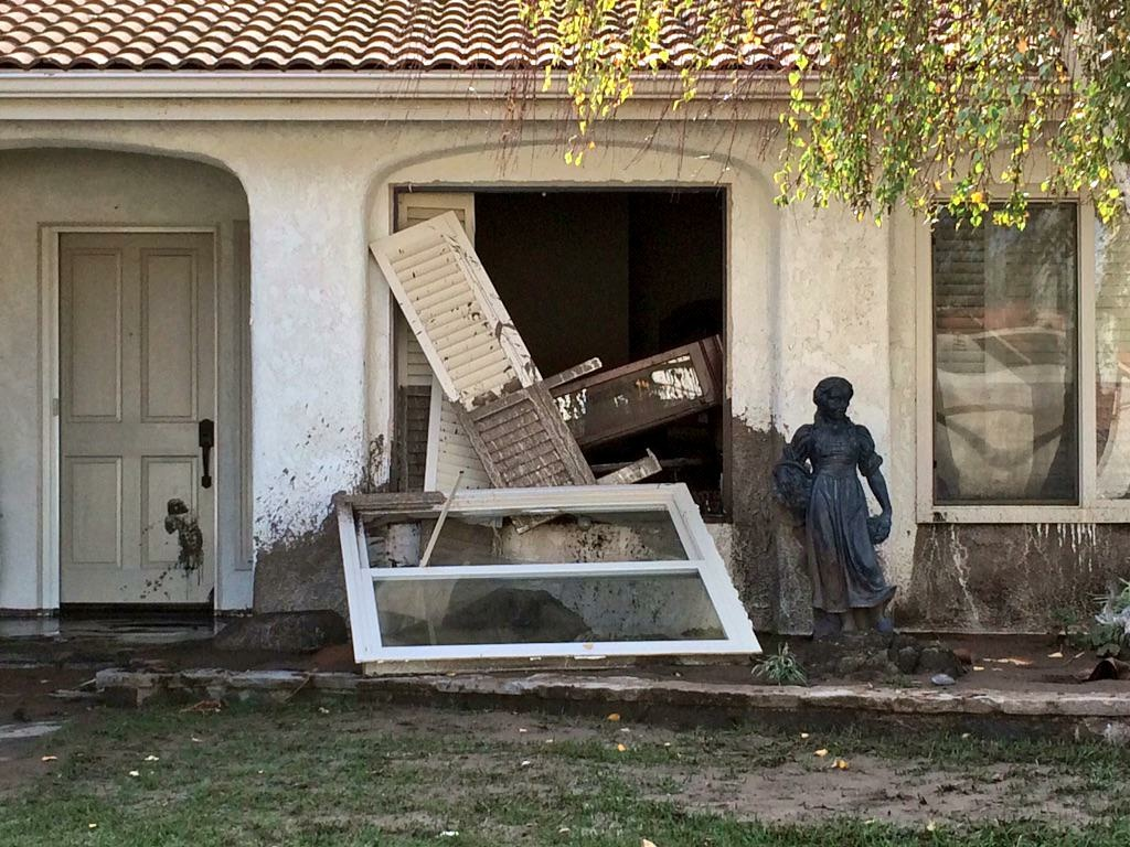 File photo: Damage seen after Thursday night's storm in Camarillo Springs on Friday, Dec. 12, 2014.