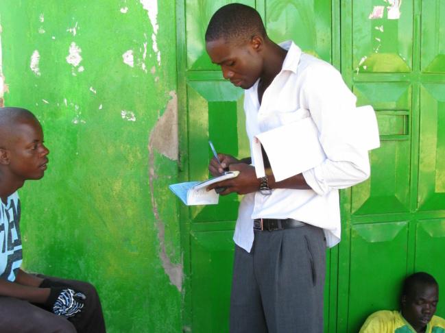 Joseph Ochieng, 18, gets circumcised at the Siaya General Hospital in western Kenya.