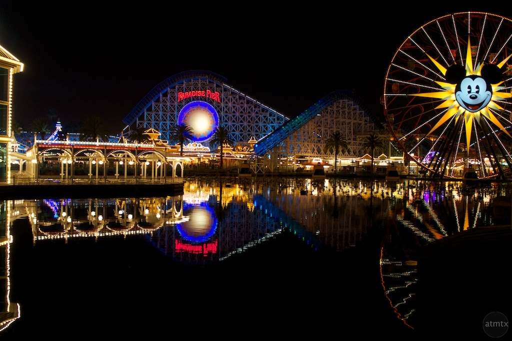 Reflections of the Disneyland California Adventure rides before
