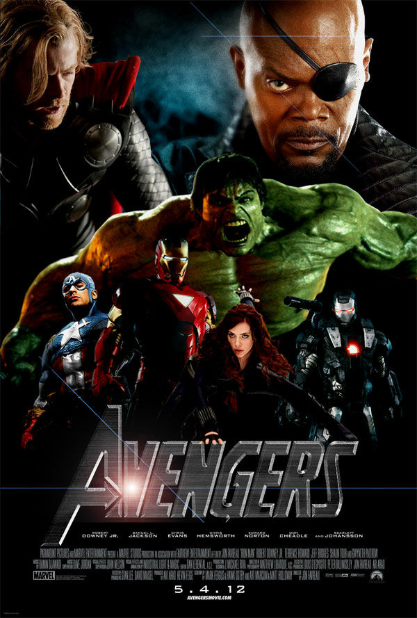 Movie poster for The Avengers.