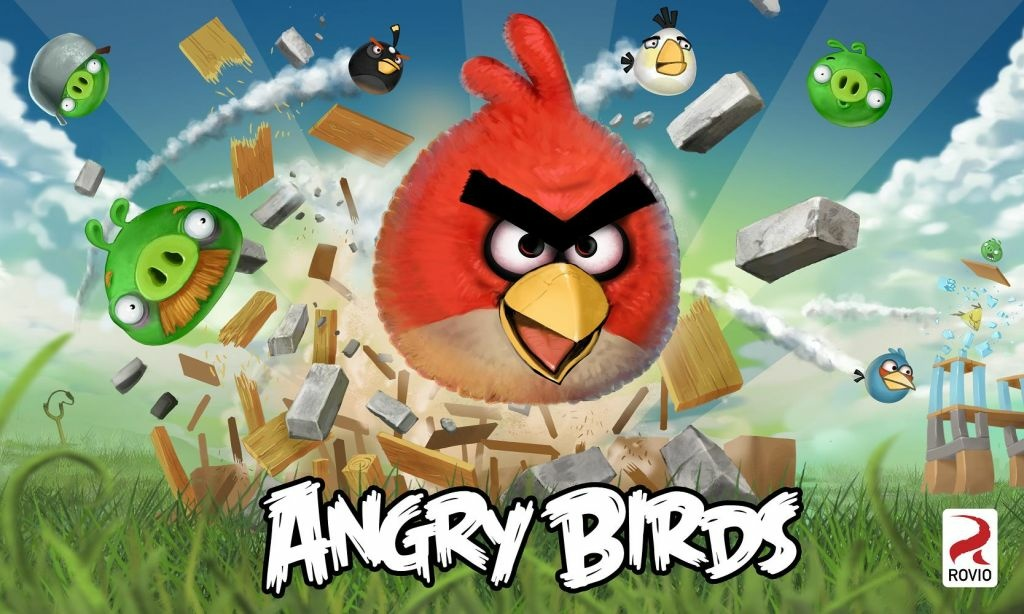 Screenshot of the Angry Birds game.
