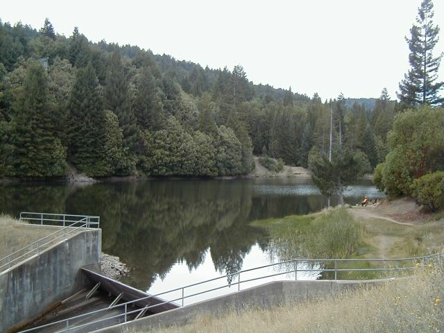 Lake Emily, located in Brooktrails Township in Mendocino County, California.