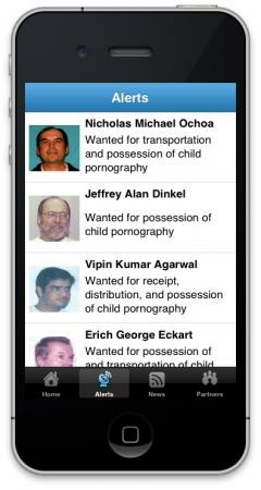 ICE's new smartphone app tracks sexual predators and sends out public alerts in urgent situations. It's free and downloadable from Apple's app store.
