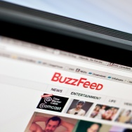 The logo of news website BuzzFeed is seen on a computer screen in Washington on March 25, 2014.