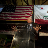 California Gov. Jerry Brown speaks during a news conference on November 3, 2010 in Oakland, California. Brown has recently signed legislation to fight climate change.