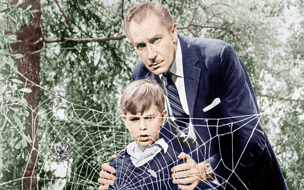Charles Herbert with Vincent Price in
