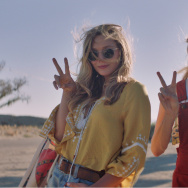 "Elizabeth Olsen (L) and Aubrey Plaza (R) in ""Ingrid Goes West."""