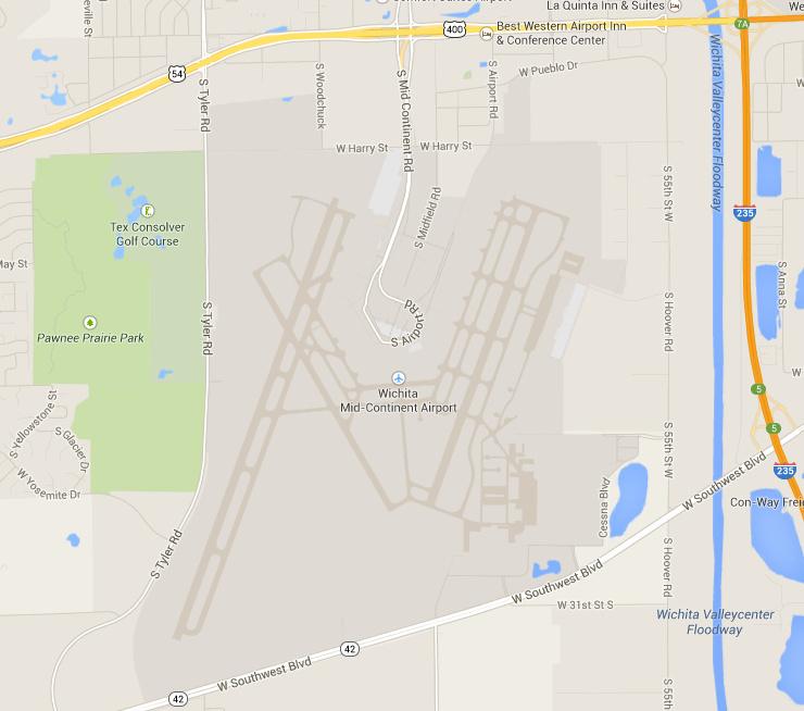 Mid-Continental Airport in Wichita, Kansas