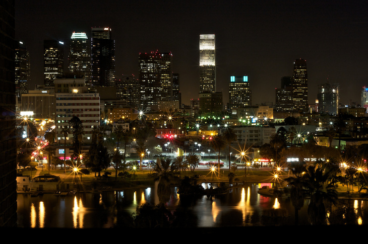 Los Angeles at night.