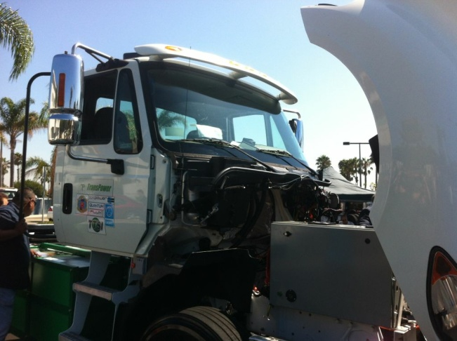 TransPower is developing 2 trucks, one for off-road use, one that can take cargo from the port along freeways to train yards.