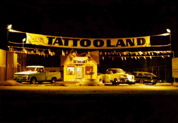 Actor Danny Trejo sits for a tattoo in the documentary,
