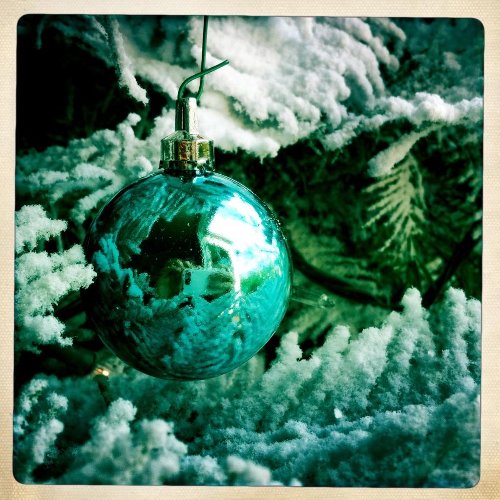 Christmas Ornament, flocked tree