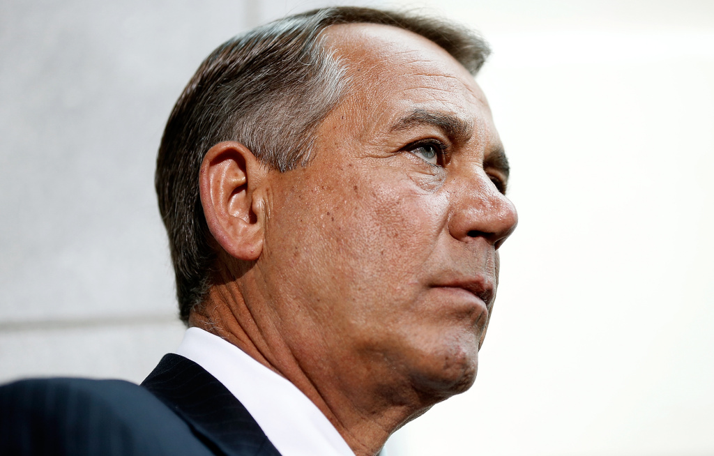 File: Speaker of the House John Boehner (R-OH) speaks following a meeting of the House Republican conference June 18, 2014 at the U.S. Capitol in Washington, DC.