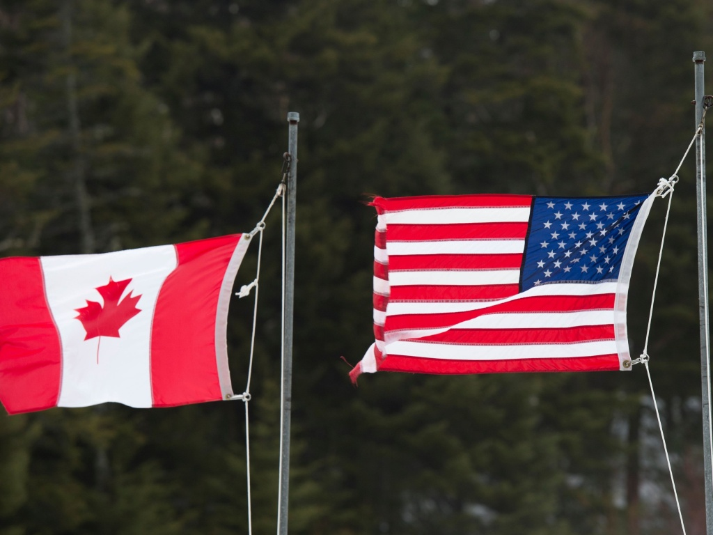 The U.S.-Canada border at Pittsburg, N.H., in 2017. The U.S. borders with Canada and Mexico will stay closed to nonessential travel through Nov. 21.