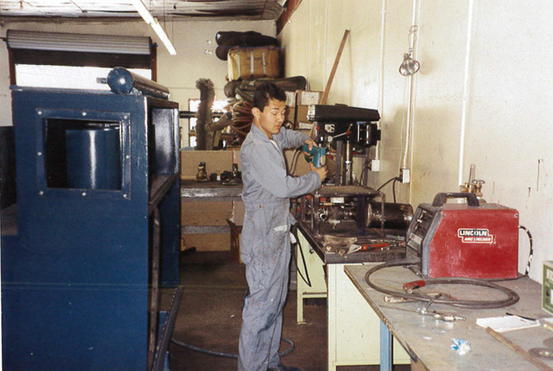 Jason Nishimoto refitted pipes on Navy ships and had a welding shop at home.