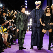 "(L-R) Actors Ben Stiller, Will Ferrell, Penelope Cruz and  Owen Wilson walk the runway during the ""Zoolander No. 2"" World Premiere in New York City."