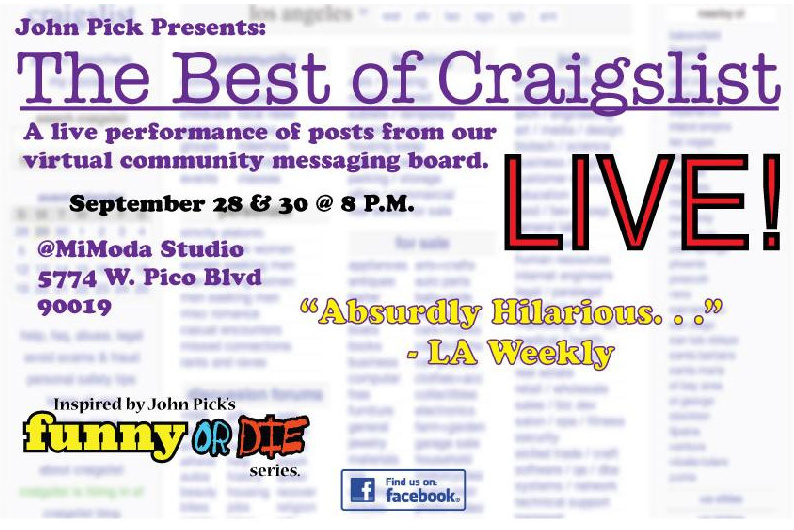 Promotional image for the Best of Craigslist show.