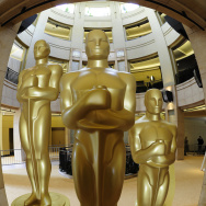 Oscar statues are seen at the Kodak Thea