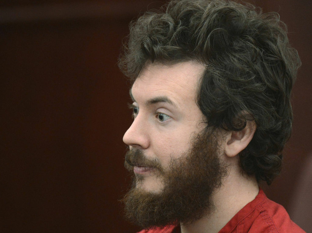 Accused Aurora theater gunman James Holmes during a court hearing in Centennial, Colo.