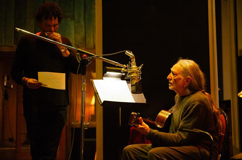 Willie Nelson, Nashville recording studio, 2011.