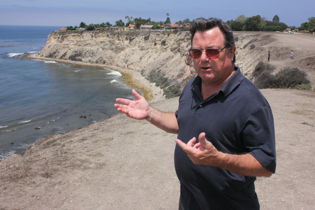 Attorney and surfer Michael Sisson on the Eastern bluff of Lunada Bay.