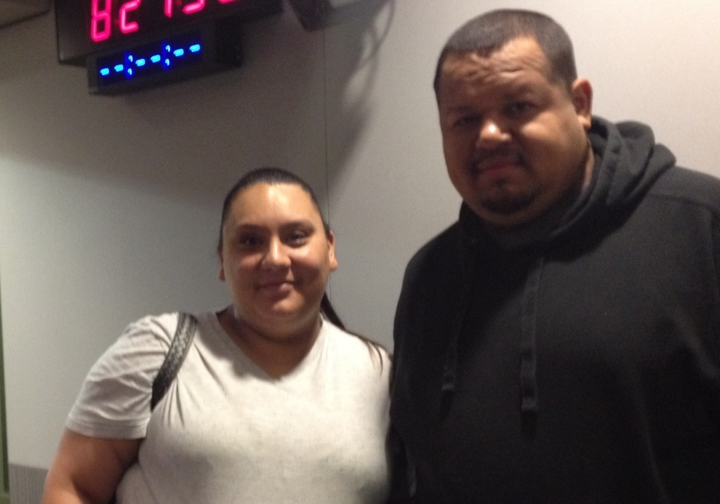 LAUSD janitor Raul Meza and his wife Vanessa. December 23, 2014