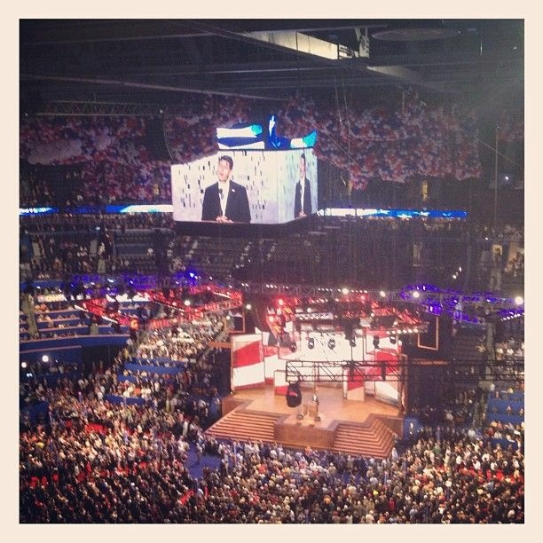 View from inside the Republican National Convention as VP candidate Paul Ryan delivered his speech on Aug. 29, 2012.
