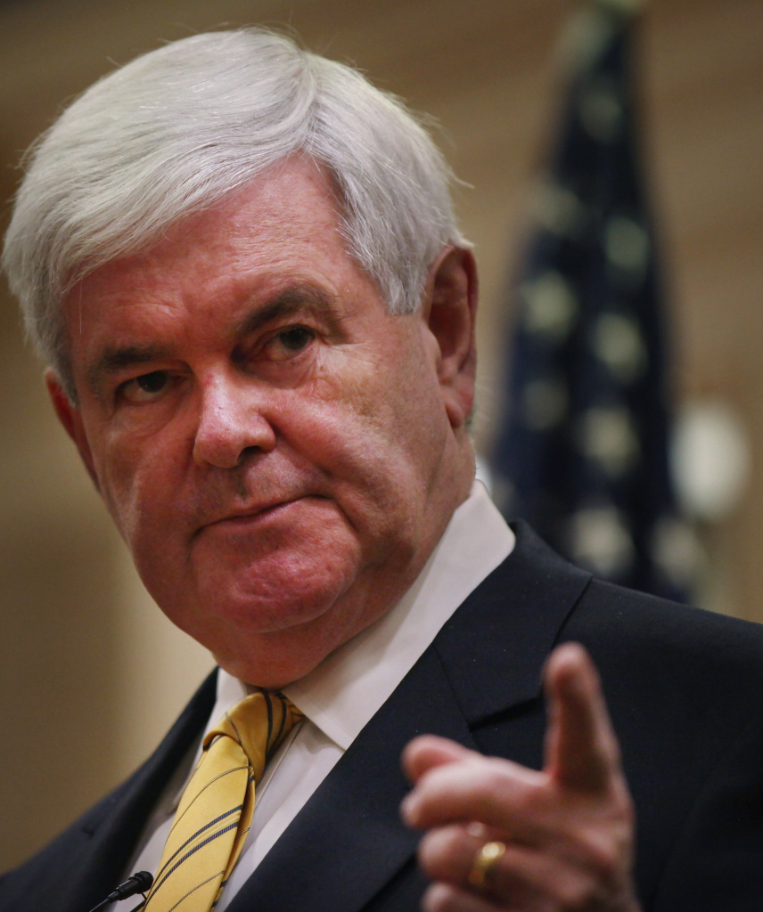 Republican presidential hopeful and former Speaker of the House Newt Gingrich.