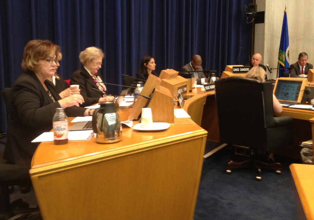 The blue ribbon commission votes on the language of a final report that took a critical look at L.A. County's foster care system on April 10, 2014. It is set to be presented to the L.A. County Board of Supervisors later this month.