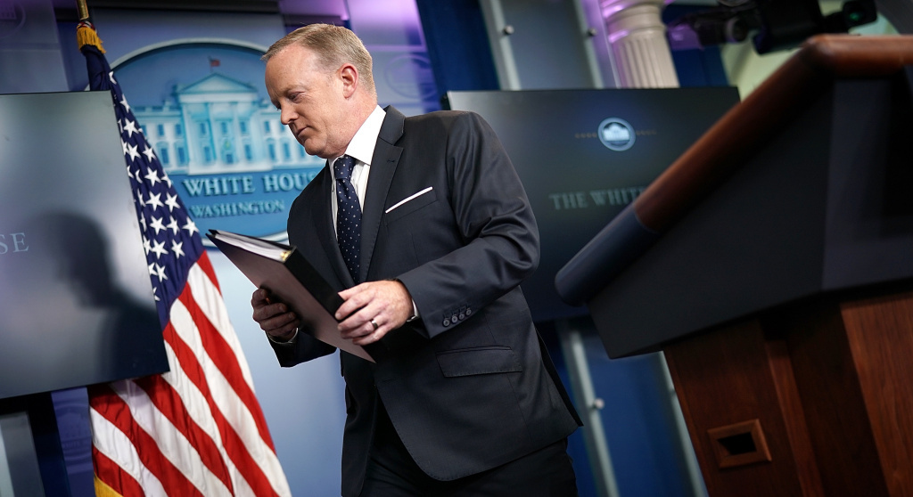 Is Sean Spicer Leaving The White House Podium?