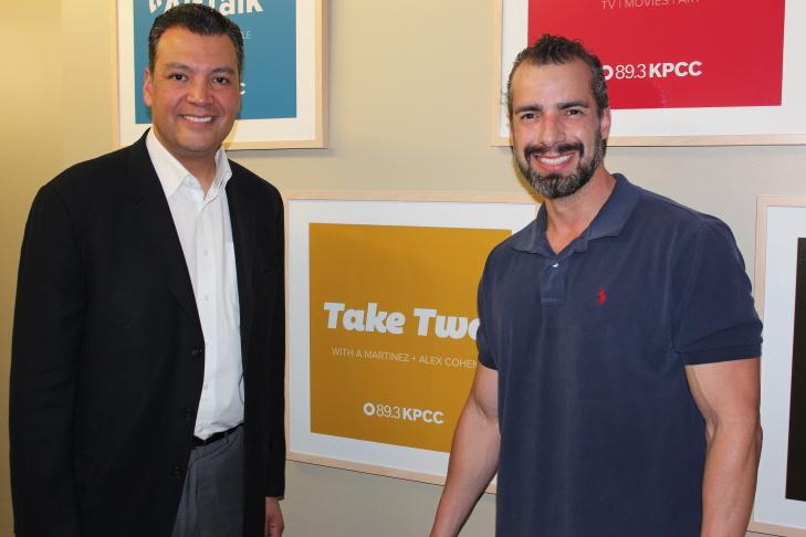 California Secretary of State Alex Padilla (left) with Take Two host A Martinez.